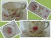 Porcelana biała w róże