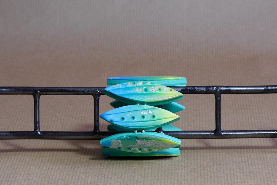 jagnaB polymer clay bracelet sambanope